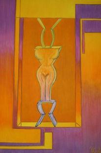 Leinen, Statue, Farben, Ölmalerei