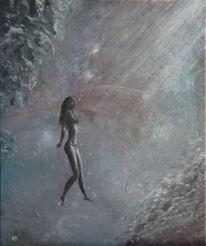 Frau, Wasser, Fisch, Malerei