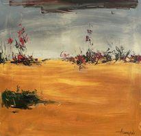 Ölmalerei, Abstrakt, Sand, Malerei