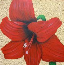 Acrylmalerei, Blumen, Rot, Malerei