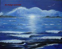 Meer, Wasser, Acrylmalerei, Landschaft