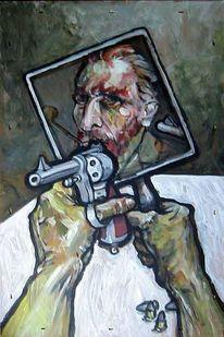 Malerei, Mund, Allein, Gogh