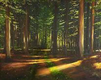 Weg, Malerei, Grün, Landschaft