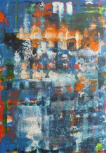 Spiegelung, Orange, Modern, Flusslichter