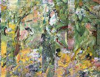 Spiel, Baum, Wald, Malerei