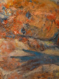 Bunt, Rose, Frau, Malerei
