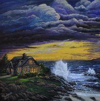 Sturm, Himmel, Küste, Landschaft