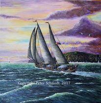 Gelb, Natur, Segelschiff, Sturm