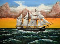 Sturm, Wetter, Wolken, Gemälde