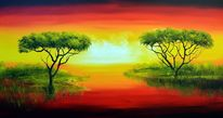 Landschaft nature original, Natur, Malerei, Landschaft