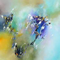 Fantasie, Malerei, Grün, Abstrakt