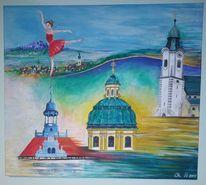 Acrylmalerei, Schwung, Tanz, Leben