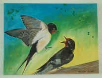 Acrylmalerei, Malerei, Pflanzen, Tiere