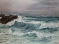Wasser, Meer, Landschaft, Malerei