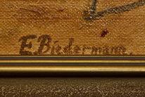 Biedermann, Ölmalerei, Malerei, Signatur