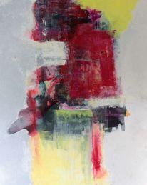 Abstrakt, Dunkel, Gelb, Rot