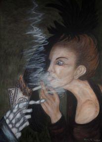 Malerei, Menschen, Acrylmalerei, Materialismus