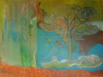 Figural, Frühling, Picasso, Ölmalerei