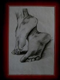Fuß, Zeichnung, Zeichnungen
