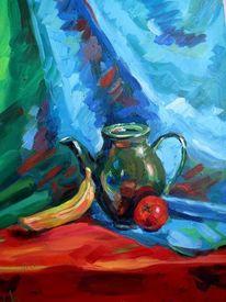 Kanne, Portrait, Banane, Ölmalerei