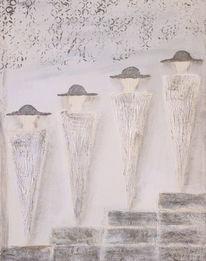 Struktur, Acrylmalerei, Malerei, Hut