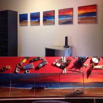 Sonne, Meer, Acrylmalerei, Malerei