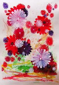 Traum, Blumen, Violett, Rot