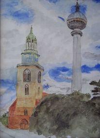 Luft, Berlin, Himmel, Fernsehturm