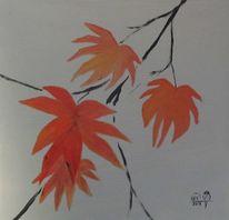 Malerei, Herbstblätter