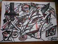Düster, Rot schwarz, Fantasie, Abstrakt