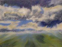 Wolken, Himmel, Pastellmalerei, Landschaft