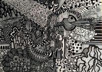 Weiß, Zeichnung, Gekritzel, Schwarz