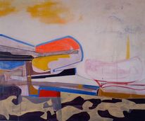 Abstrakte malerei, Japan, Malerei, Schlacht