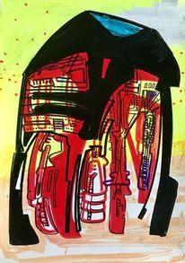 Acrylmalerei, Abstrakt, Universum, Technologie