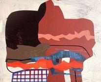 Abstrakte malerei, Malerei, Neo, Geometrie
