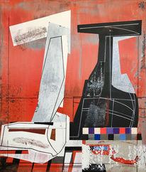 Metaphysisch, Avantgarde, Acrylmalerei, Futurismus