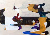 Sachsen, Schwarz, Abstract konst, Abstrakt maleri
