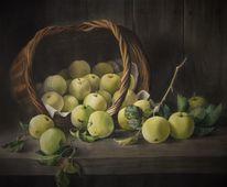 Stillleben, Apfel, Korb, Natur