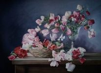 Stillleben, Blumen, Aquarell,