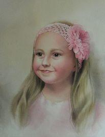 Menschen, Portrait, Mädchen, Aquarell