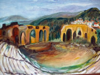 Arena, Biegen, Berge, Malerei
