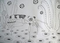 Käfer, Pflanze, Kreise, Zeichnungen