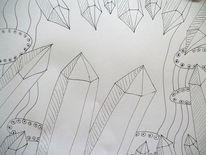 Mineral, Spitze, Kristall, Zeichnungen