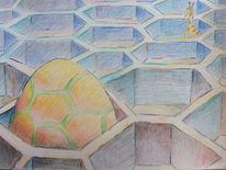 Kuppel, Giraffe, Sechseck, Zeichnungen