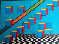Quadrat, Strich, Primär, Malerei