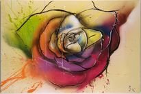 Rose, Trash style, Malerei