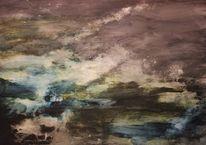 Abstrakt, Malerei, Wilde, Himmel