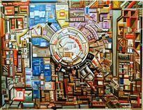 Abstrakt, Geometrie, Komplexität, Ölmalerei