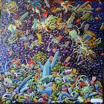 Fantasie, Chaos, Ölmalerei, Malerei