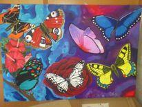 Schmetterling, Malerei, Bunt, Tiere